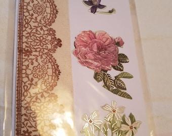 Vintage Look Rose Card