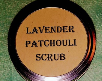 Lavender patchouli scrub