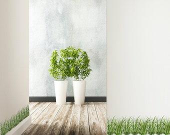 Grass Border Wall Decals -Grass Wall Decor, Grass Wall Sticker, Realistic Hand Painted Grass Decal, Home Décor