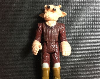 Vintage Original 1983 Kenner Star Wars Ree Yees Figure with Stand!, Rare Vintage Star Wars Toy! Lot 3