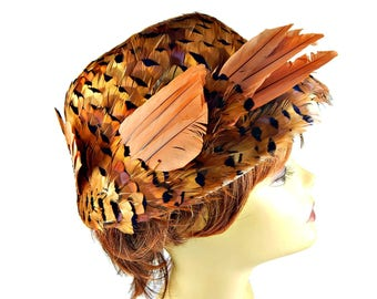 Hilda and Hester Hat Pheasant Feather Bucket Style