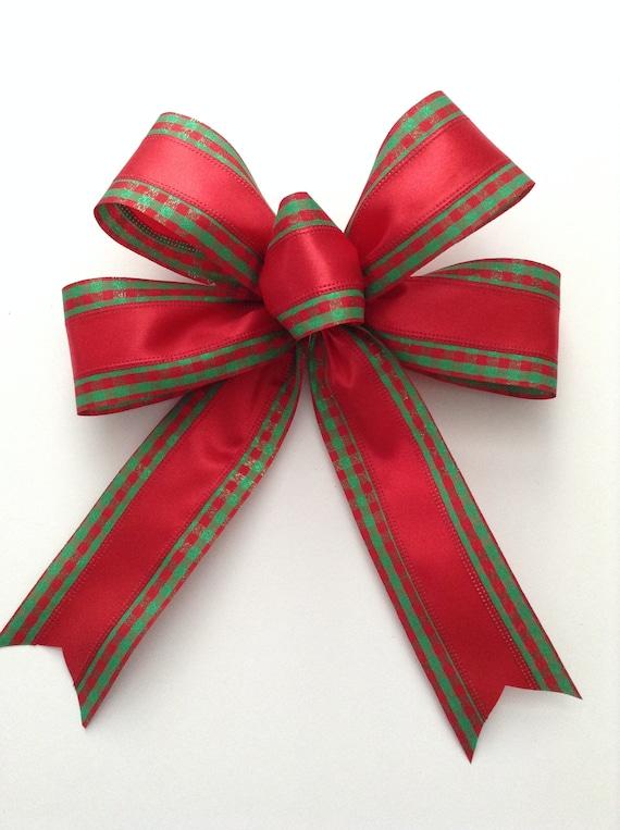 Weihnachtsbaum-Bögen / Set aus 6 Bögen / rot und grün Xmas