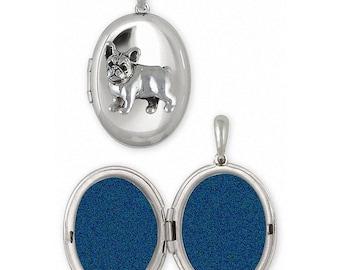 French Bulldog Jewelry Sterling Silver French Bulldog Photo Locket Handmade Frenchie Jewelry FR31-V