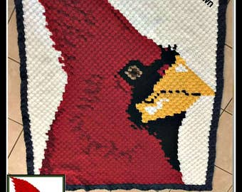 C2C Graph, Cardinal Afghan C2C Graph and Written Word Chart