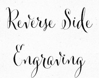 Reverse Side Engraving