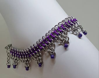 Handmade Chainmaille Ankle Bracelet.