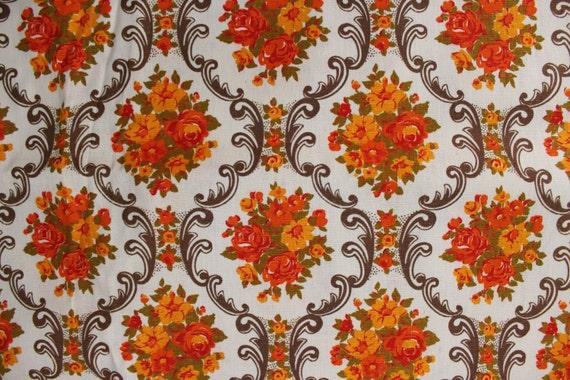 3 YARDS Soviet Vintage 70s Fabric, Vintage Linen Home Decor Fabric ...
