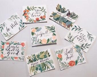Handpainted watercolor cards