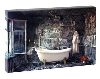 Bathroom still life canvas canvas poster XXL 120 cm * 80 cm 315