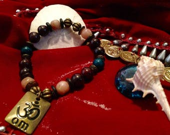 Healing From Crisis Bracelet with Om Charm