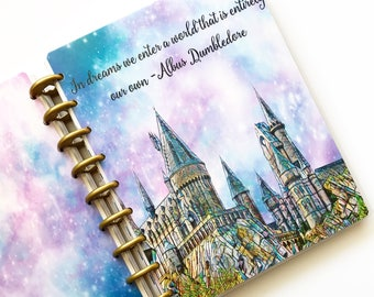 "Happy Planner Cover Set: ""Hogwarts"", 10 Mil Laminated"