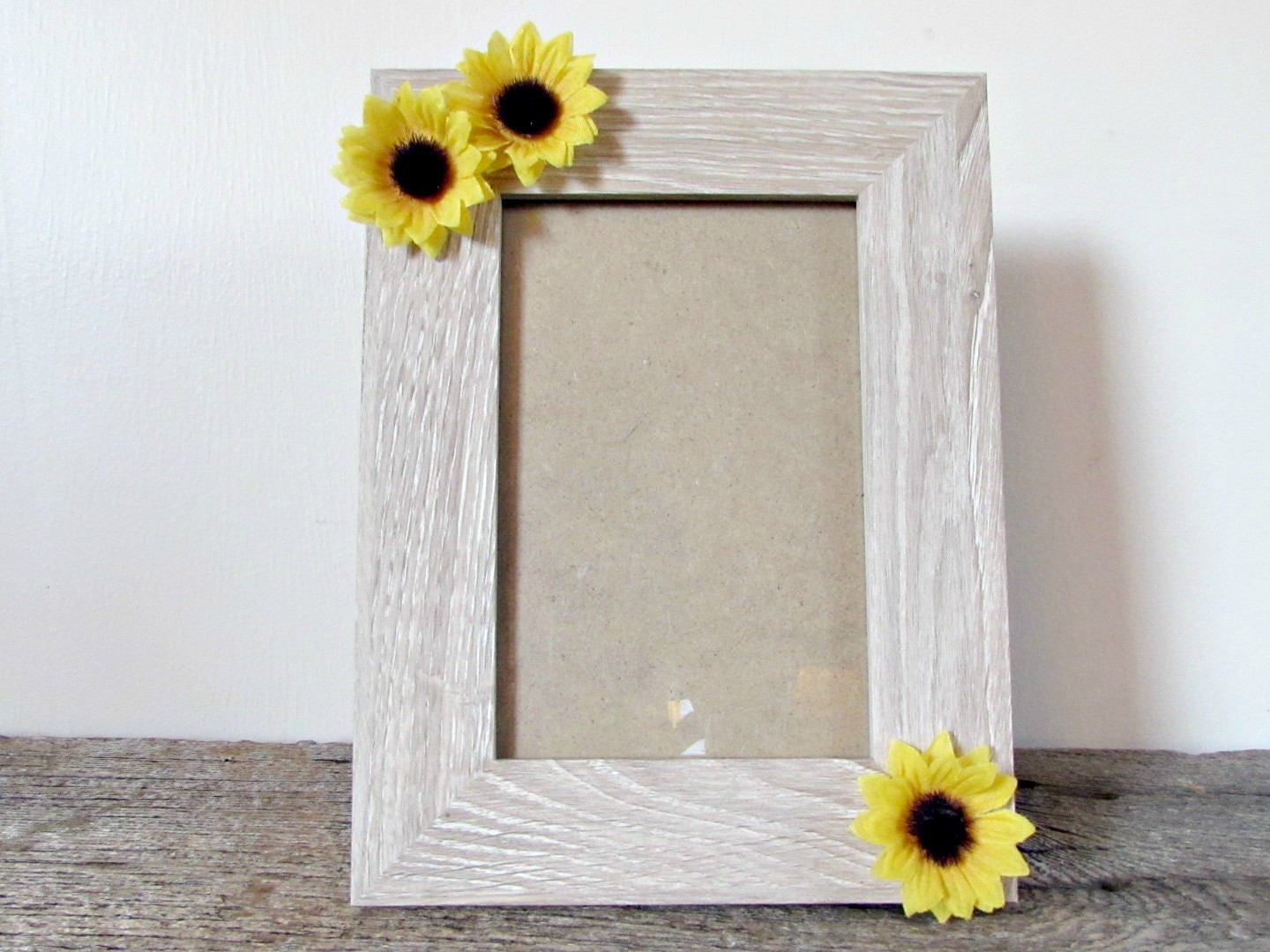Sunflower Picture Frame 4x6 5x7 or 8x10 Sunflower Photo