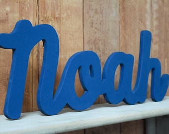 Wood Nursery Letters, Name Sign - Noah - Nursery, Home Decor, Baby name sign