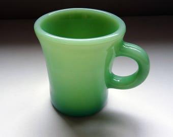Vintage Fire King Chocolate Mug // Jadeite Green