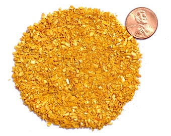 Crushed Orpiment Stone Inlay, Medium, 1/2 Ounce