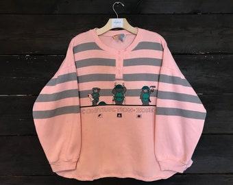 Vintage 80s Good 'N' Plenty Construction-Zone 1 Sweatshirt
