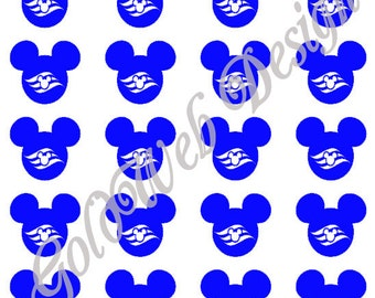 Mickey Mouse Inspired Vinyl Decals/Stickers (set of 20)
