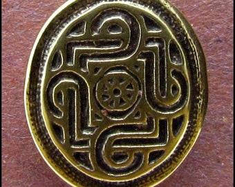 Celtic Scrollwork - Shank Button - B593