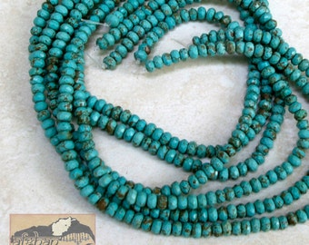 Faceted Turquoise Bead Strand