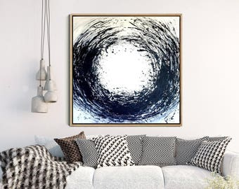Zen Circle, Abstract Wall Art, Black And White Art, Minimalist Art, Abstract Art Print, Giclee Print, Home Decor, Wall Decor