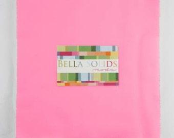 Moda Bella Solids 30's Pink 10 x 10 Inch Squares - Junior Layer Cake