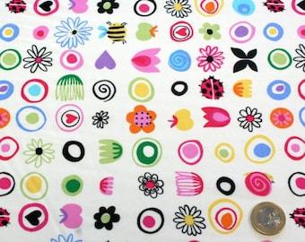 100% cotton 45 cm x 45 cm 3 fancy fabric coupon