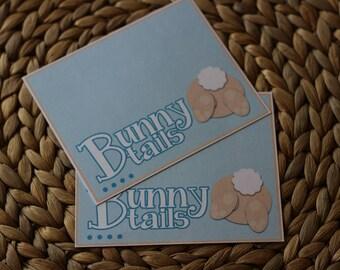 Bunny Tail Bag Topper Instant Download, Easter Bag Topper