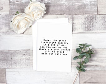 Under the Basic Transitive Theory... - Greeting Card