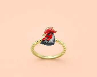 Rooster Ring - Chinese zodiac animals. Sign - Zign Collection ,  Year of The Rooster