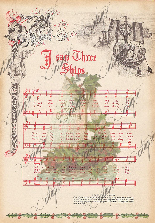 free printable vintage christmas sheet music