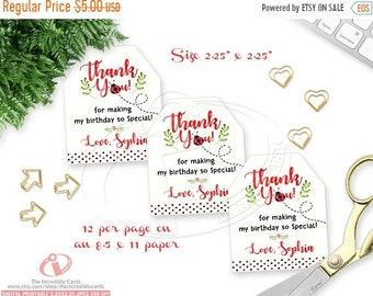 ON SALE Ladybug favor tags, Ladybug gift tags, Ladybug Decoration, Lady bug, Personalized Favor Tags, Favor Tag, Printable, DIY, Pdf
