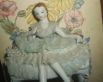 Japan Porcelain Lace Figurine
