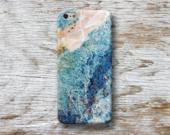 Blue Agate Phone Case for iPhone 4 4s 5 5s SE 5C 6 6S 7 8 PLUS X iPod Touch 5 6 Oneplus 2 3 5 1+2 1+3 1+5