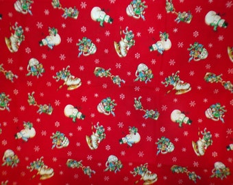 Frosty the Snowman & Friends 100% Cotton Fabric CR #10