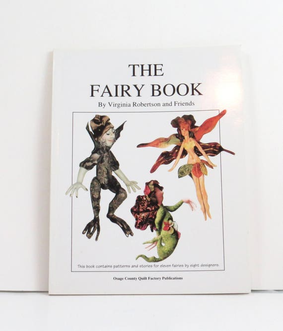 The Fairy Book, doll making projects, used craft book, easy doll ...