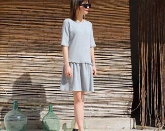 Second hand - Karen Walker Grey Frill dress, from her Runaway Girl collection.