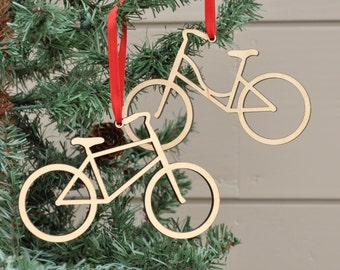 Bike Ornament: Wooden Bicycle Christmas Ornament, Boy Or Girl (1)