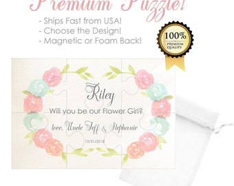 Flower Girl Proposal- Flower Girl Puzzle- Will You Be My Flower Girl Gift- Ask Flower Girl- Will You Be Our Flower Girl- Wedding Proposal