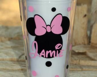 Personalized Disney Name Acrylic Tumbler with Straws - BPA Free
