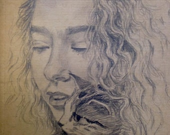 Custom Portrait, original drawing - pencil drawing- One person - from photograph