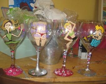 fitness divas, boot camp wine glasses