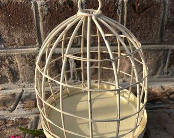 Birdcage, Birdcage Decor, Wedding Decor, Antique White Birdcage, Nursery Decor, Metal Birdcage