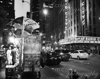 New York City in front of Radio City Music Hall Black and White Photography