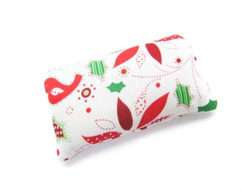 Christmas Birds Pincushion filled with Emery Sand