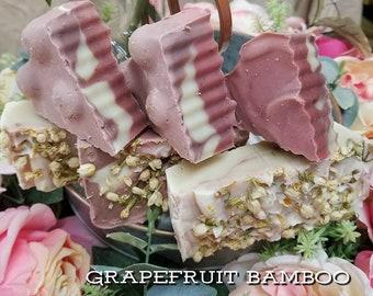 Bamboo Grapefruit Soap/ Handmade Soap/ Scented Soap