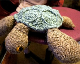 Knitting pattern (not a finished knitted toy). Sea turtle .