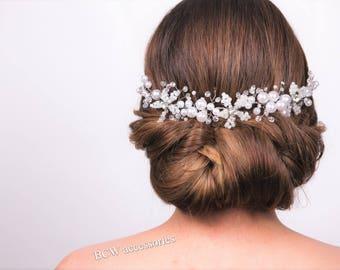 Wedding Bridal headband,wedding bridal hair accessory,wedding hair accessory, Bridal Hair accessory,Wedding headpiece, Bridal Headpiece,#101