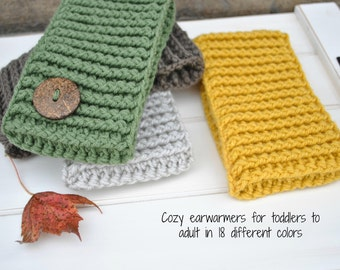 Ear Warmers, Crochet Headband, Ear Warmer Headband, Knit Ear Warmer, Crochet Ear Warmer, Winter Accessory, Free US Shipping
