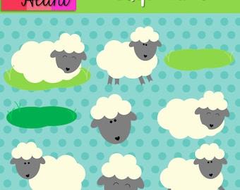 Little Lambies Clip Art