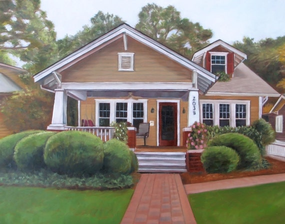 Custom House Portrait - House Painting - Oil Painting - Housewarming Gift